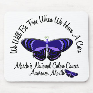 Colon Cancer Awareness Month Butterfly 1.1 Mouse Pad