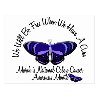 Colon Cancer Awareness Month Butterfly 1.1 Postcard