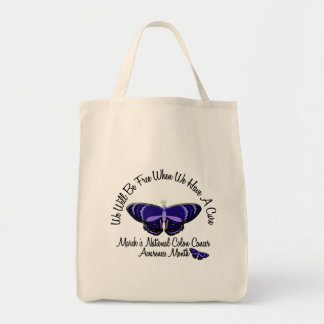Colon Cancer Awareness Month Butterfly 1.1 Tote Bag