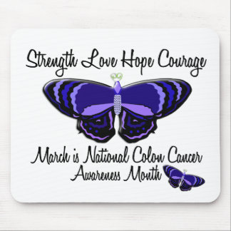 Colon Cancer Awareness Month Butterfly 1.2 Mouse Pad