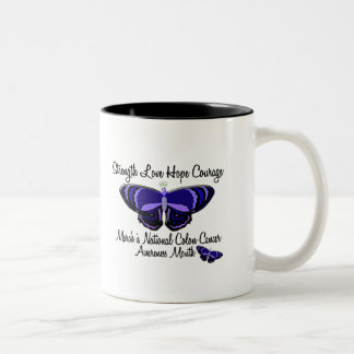 Colon Cancer Awareness Month Butterfly 1.2 Coffee Mug