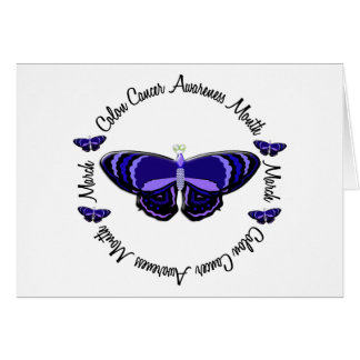 Colon Cancer Awareness Month Butterfly 1.3 Card