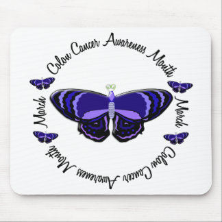 Colon Cancer Awareness Month Butterfly 1.3 Mouse Pad