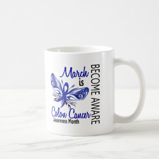 Colon Cancer Awareness Month Butterfly 3.1 Coffee Mug