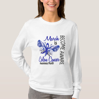 Colon Cancer Awareness Month Butterfly 3.1 T-Shirt