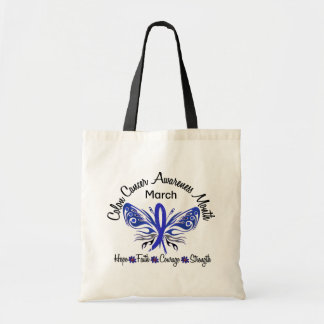 Colon Cancer Awareness Month Butterfly 3.2 Tote Bag