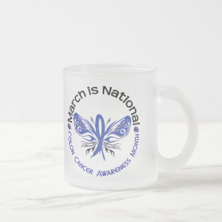 Colon Cancer Awareness Month Butterfly 3.3 Mug