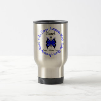 Colon Cancer Awareness Month Butterfly Mugs