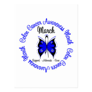 Colon Cancer Awareness Month Butterfly Postcard