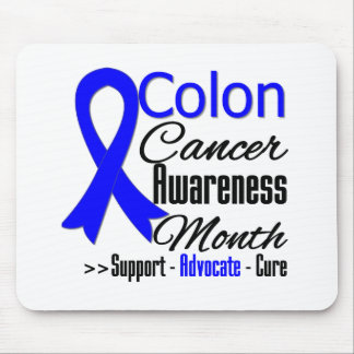 Colon Cancer Awareness Month Ribbon Mouse Pad