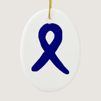Colon cancer awareness ornament