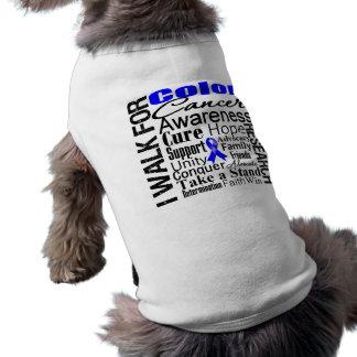 Colon Cancer Awareness Walk Dog T-shirt