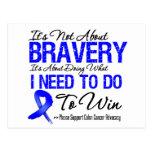 Colon Cancer Battle Postcard