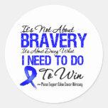 Colon Cancer Battle Round Stickers