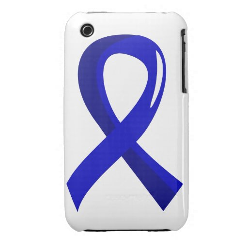 Colon Cancer Blue Ribbon 3 iPhone 3 Cases