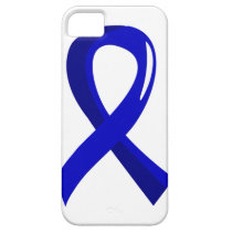 Colon Cancer Blue Ribbon 3 iPhone SE/5/5s Case