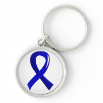 Colon Cancer Blue Ribbon 3 Keychain