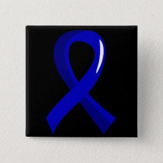 Colon Cancer Blue Ribbon 3 Pinback Button