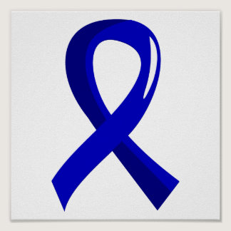 Colon Cancer Blue Ribbon 3 Poster