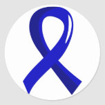 Colon Cancer Blue Ribbon 3 Round Stickers