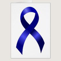 Colon Cancer Blue Ribbon Card
