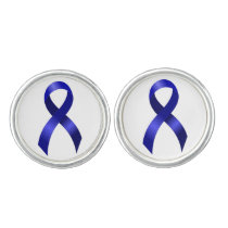 Colon Cancer Blue Ribbon Cufflinks