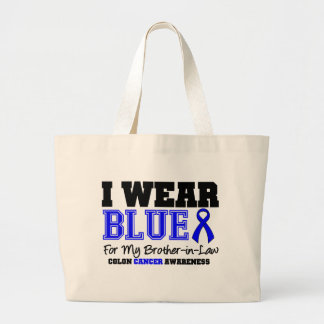 Colon Cancer Blue Ribbon For My Brother-in-Law Tote Bag