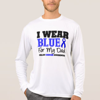 Colon Cancer Blue Ribbon For My Dad (Sporty) Tee Shirt