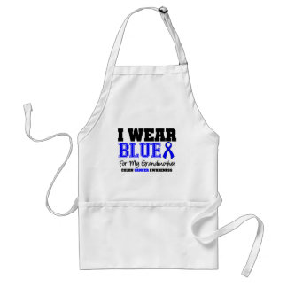 Colon Cancer Blue Ribbon Grandmother (Sporty) Adult Apron