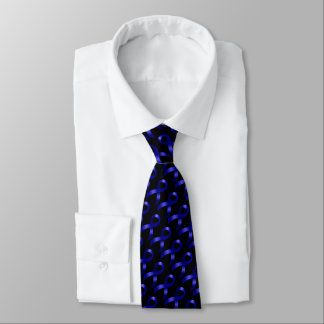 Colon Cancer Blue Ribbon Neck Tie