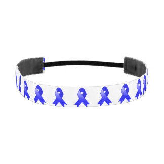 Colon Cancer Blue Ribbon Athletic Headbands