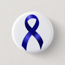 Colon Cancer Blue Ribbon Pinback Button