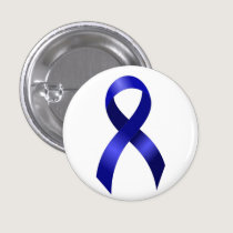 Colon Cancer Blue Ribbon Pinback Button