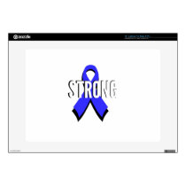 Colon Cancer Blue Ribbon Strong Laptop Decal