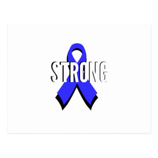 Colon Cancer Blue Ribbon Strong Postcard