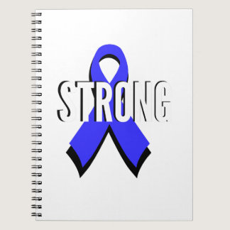 Colon Cancer Blue Ribbon Strong Spiral Notebook