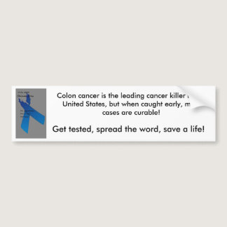 colon cancer bumper sticker