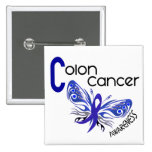 Colon Cancer BUTTERFLY 3 Pin
