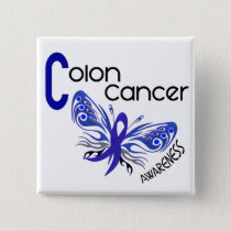 Colon Cancer BUTTERFLY 3 Pinback Button
