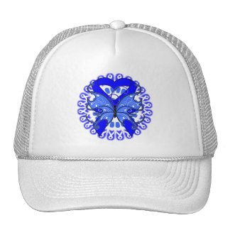 Colon Cancer Butterfly Circle of Ribbons Trucker Hat