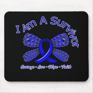 Colon Cancer Butterfly I Am A Survivor Mouse Pad