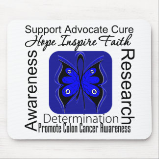 Colon Cancer Butterfly Inspirations Mouse Pad