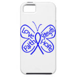 Colon Cancer Butterfly Inspiring Words iPhone 5 Covers