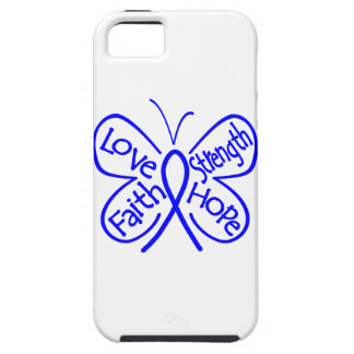 Colon Cancer Butterfly Inspiring Words iPhone 5 Case