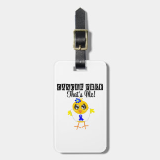 Colon Cancer - Cancer Free That's Me Luggage Tag