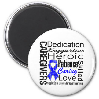 Colon Cancer Caregivers Collage 2 Inch Round Magnet