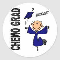 Colon Cancer CHEMO GRAD 1 Classic Round Sticker