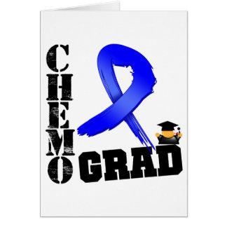 Colon Cancer Chemo Grad Greeting Card