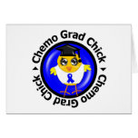 Colon Cancer Chemo Grad Chick Greeting Cards