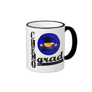 Colon Cancer Chemo Grad Ringer Mug